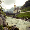 Ramsau Chruch Stock Photo