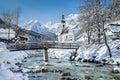 Ramsau in winter, Berchtesgadener Land, Bavaria, Germany Royalty Free Stock Photo
