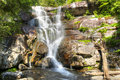 Ramsey cascades are one of the most beautifull and at feet highest falls in the smokies Stock Photography