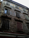 Ramshackle building in old town of corfu Royalty Free Stock Photography