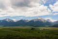 A Ranch in a Mountain Meadow Royalty Free Stock Photo