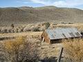 Ranch setting on the Eastern Sierra Nevada Stock Photos