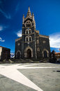 Randazzo sicily church of santa maria in the xv century church is built only with lava rock Royalty Free Stock Photo