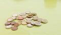 Random amount of euro coins Royalty Free Stock Photo