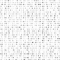 Random binary coding. Technology digital background. Black and white binary code. Vector illustration Royalty Free Stock Photo
