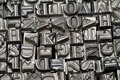 Random letterpress type Royalty Free Stock Photo
