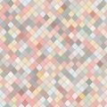 Random rhomb texture. Colorful seamless pattern.