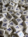 Random scrabble pieces. Royalty Free Stock Photo