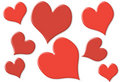 Random small and big hearts with 2 colors Royalty Free Stock Photos