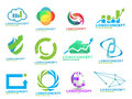 Random stock logos pack of management analyzis and other eps Royalty Free Stock Photography