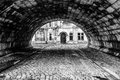 Random tunnel a shot in gent belgium Royalty Free Stock Photography