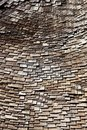 Randomly Organized Roof Wooden Tiles Stock Photos