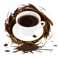 Ranek czarna kawa Obrazy Royalty Free