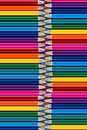 Range of colored pencils. Royalty Free Stock Photo
