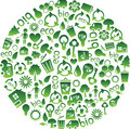 Range of eco icons Royalty Free Stock Photos