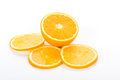 Range of Orange Fruit on white Royalty Free Stock Image