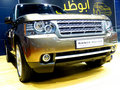 Range Rover SUV Stock Photo