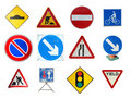 Range of traffic signs Stock Photo