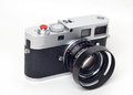 Rangefinder camera picture of classic on white background Royalty Free Stock Photo