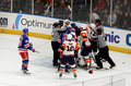 Rangers x Islanders Ice Hockey Game Royalty Free Stock Photography