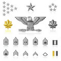Rank icons : Army and Military Royalty Free Stock Photo