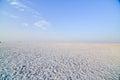 Rann of kutch terrain with clouds at bhuj near western indian border Stock Photos