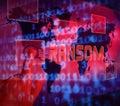 Ransom Computer Hacker Data Extortion 3d Illustration