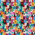 Ransom note kidnapper seamless pattern vibrant multicoloured fun background with letters for decoration background and print Royalty Free Stock Image