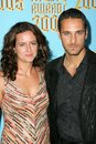 Raoul bova and wife chiara Royalty Free Stock Photos
