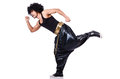 Rap dancer isolated on the white Royalty Free Stock Image