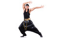 Rap dancer isolated on the white Royalty Free Stock Images
