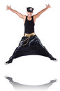 Rap dancer wide pants white Royalty Free Stock Image
