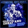 Rap hip hop graffiti - vector poster Royalty Free Stock Photo