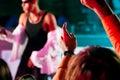 Rap or Hip-Hop Musicians (Focus on crowd!) Royalty Free Stock Photos
