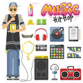 Rap hiphop vector illustration