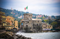 Rapallo Castle in Liguria Royalty Free Stock Photo