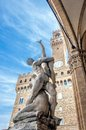 Rape of the Sabines sculpture by Giambologna in Florence, Italy Royalty Free Stock Photo