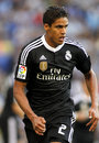 Raphael varane of real madrid during a spanish league match against rcd espanyol at the power stadium on maig in barcelona spain Stock Photos