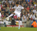 Raphael varane of real madrid during the spanish league match between espanyol and at the estadi cornella on may in Royalty Free Stock Photo