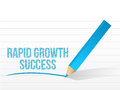 Rapid growth success message illustration design over white Royalty Free Stock Photos