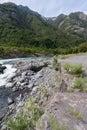 Rapids Cile di Petrohue Fotografie Stock