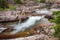 Rapids at McDonald Creek Royalty Free Stock Photo