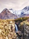 Rapids on mystic  River Coe, mountains scenery in Scotland Royalty Free Stock Photo