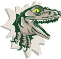 Raptor Head Breaking Out Wall Retro Royalty Free Stock Photo