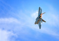 Raptor the military aircraft in flight Stock Images