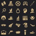 Rapture icons set, simple style