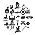 Rapture icons set, simple style Royalty Free Stock Photo