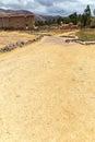 Raqchi arkeologisk plats för inca i cusco peru ruin av templet av wiracocha Royaltyfria Bilder