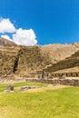 Raqchi de archeologische plaats van inca in cusco peru ruin van tempel van wiracocha Royalty-vrije Stock Foto's