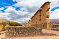 Raqchi, Inca archaeological site in Cusco, Peru (Ruin of Temple of Wiracocha) at Chacha,America Royalty Free Stock Photo